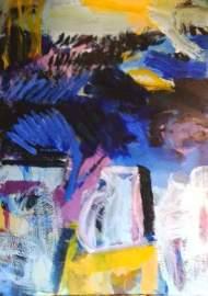 acrylic on canvas 1 m x 1.40 m